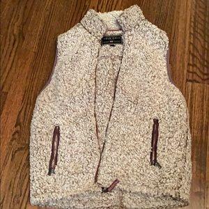 True Grit fluffy vest - small
